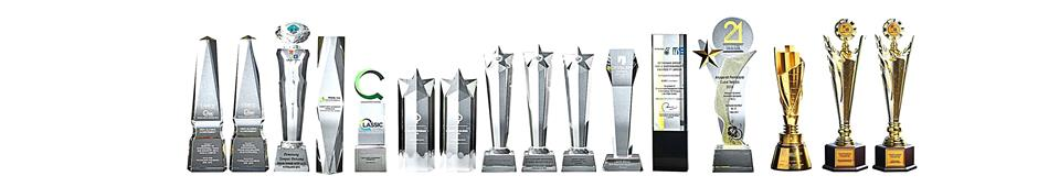 Serial winner: Some of the many awards which Putrajaya Holdings has received over the years.