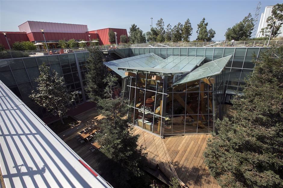 Facebook's striking new Menlo Park building akin to village