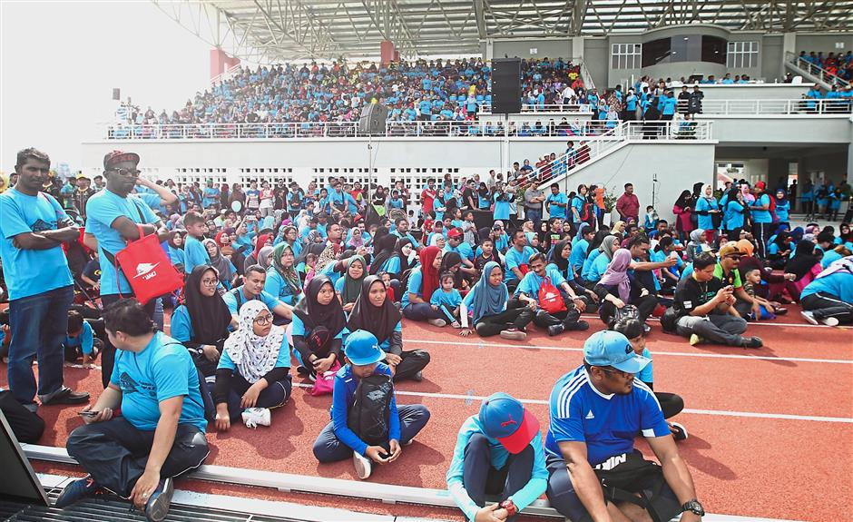 More than 5,000 people attending the launch of the MPAJ stadium.