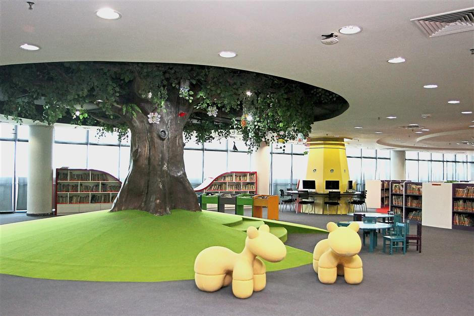One of the fun reading corner at the children's area at the Raja Tun Uda library in Shah Alam.