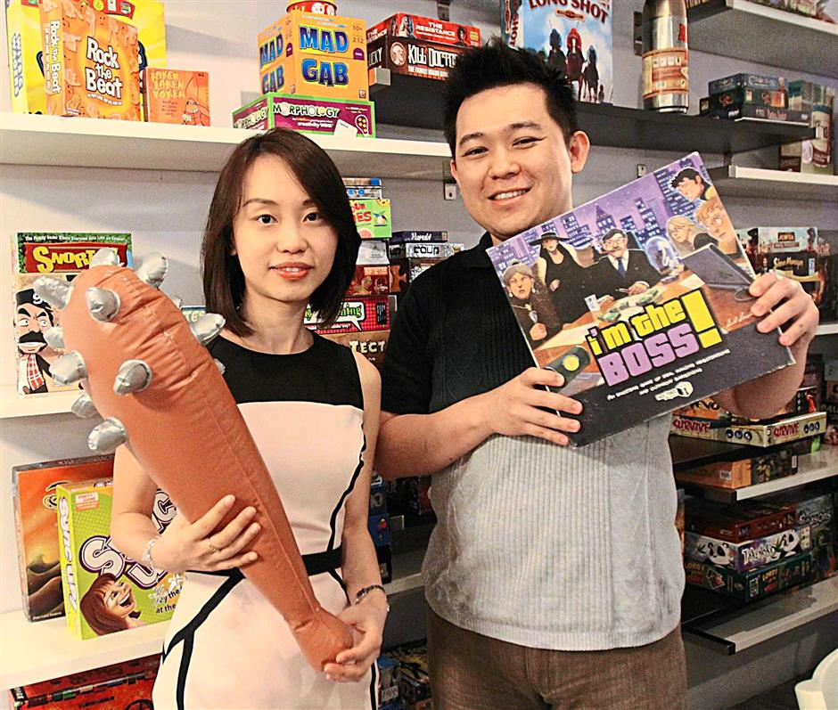 Business partners Lily Ling and Val Kueh  set up The Border City Cafe and Board Games set up the business because they both share an interest in games.