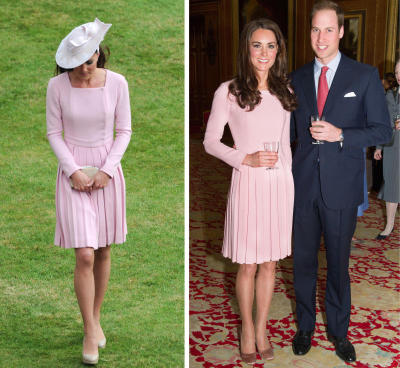 The same outfit in a space of two weeks u2014 a reception before Queen Elizabeth IIu2019s Diamond Jubilee lunch on May 18, and attending a garden party at Buckingham Palace, May 30.