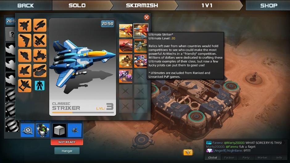MAKE A MECH: There are nine mechs to unlock, skins to add variety and mech parts that modify stats. Happy customising