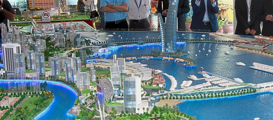 A scale model of the Melaka Gateway project. — Filepic