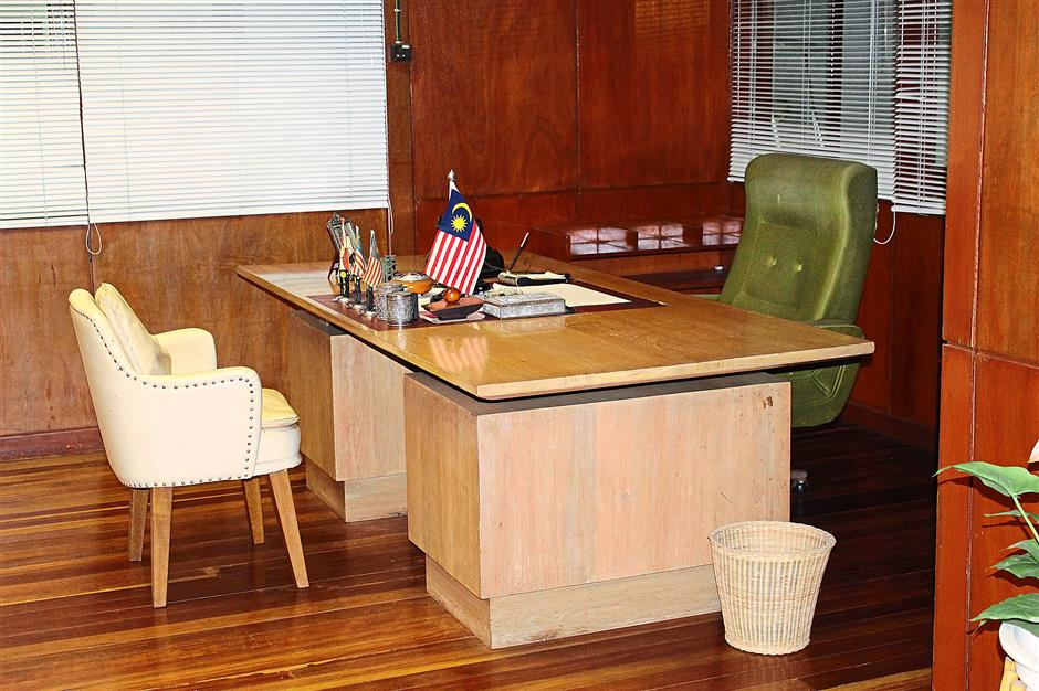 Well preserved: The interior of Tunku's office as it was when he was the prime minister.