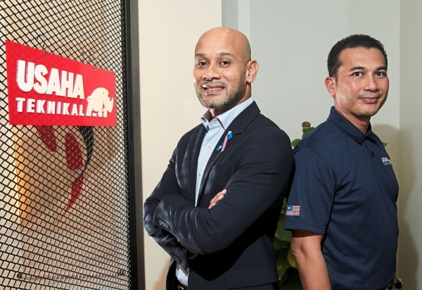 Rail works: Sadiq (left) and Alizi see the potential to branch out into rail engineering services.