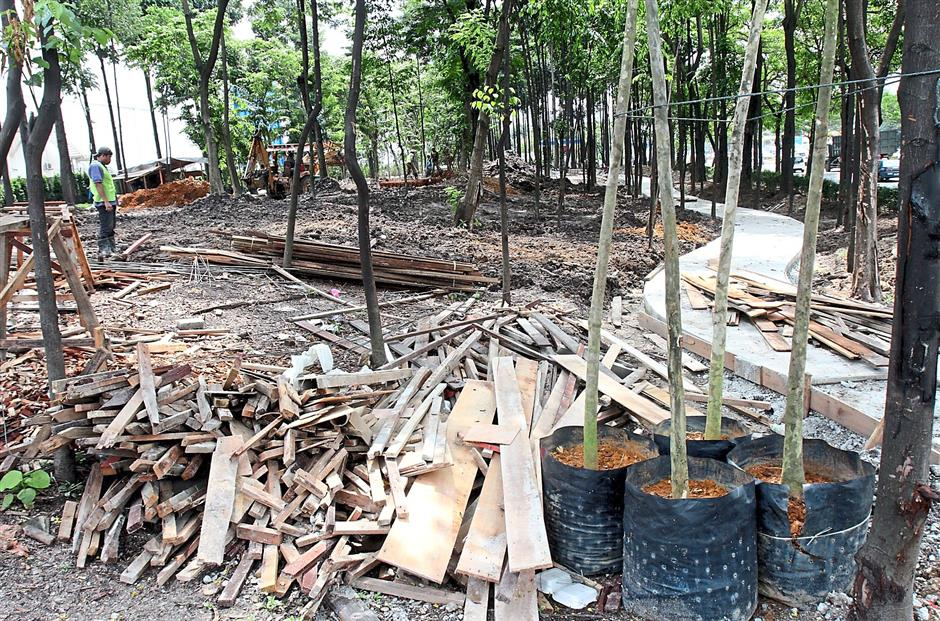 Eco World Development is planting 227 trees in its adopted park park in Jalan Ipoh.