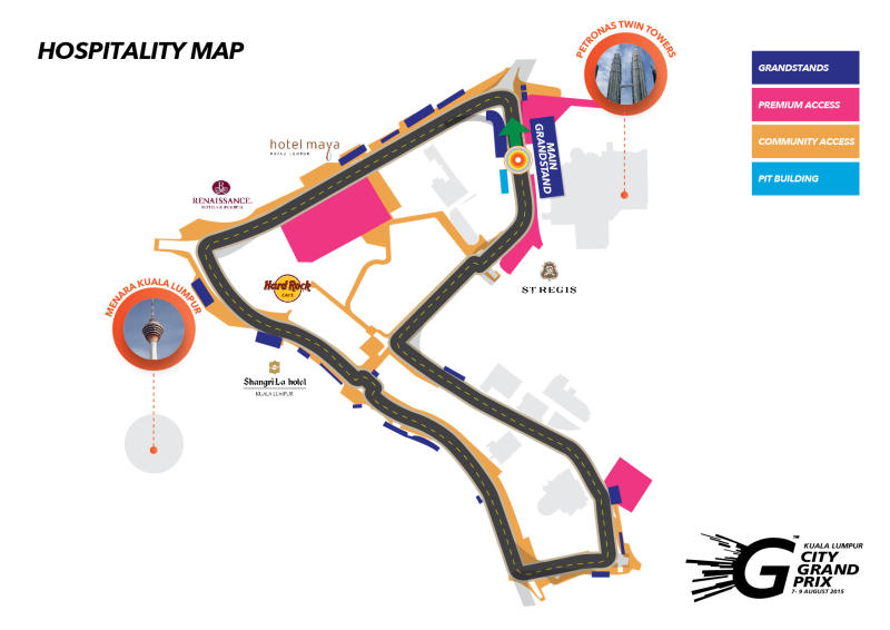 The Kuala Lumpur City Grand Prix circuit