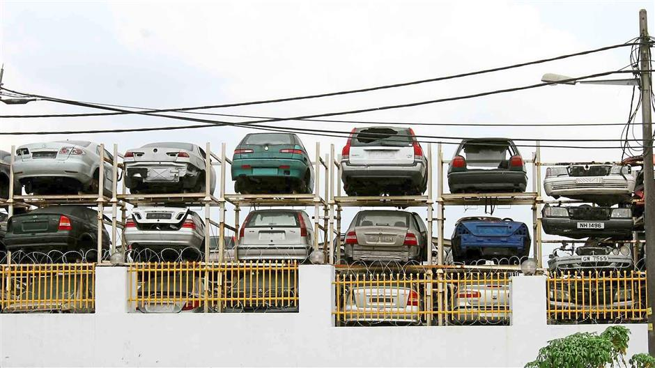 Abandoned cars like these should be properly disposed off to ensure that they do not become a breeding ground