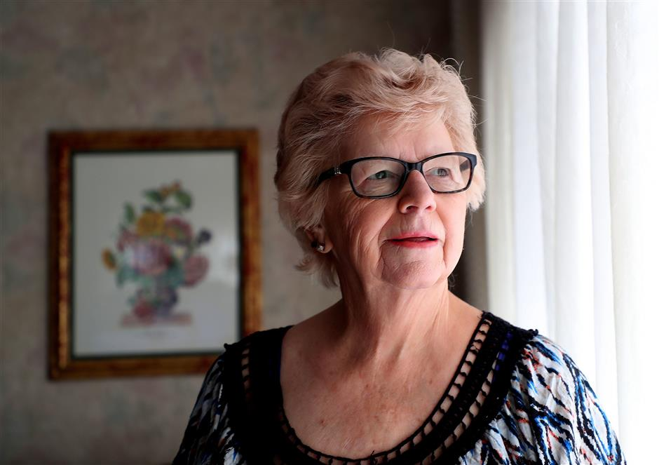 Sally Arzella Moser at her home on July 2, 2018, in Hayward, Calif. Moser was victimized in a tech-support scam. (Aric Crabb/Bay Area News Group/TNS)