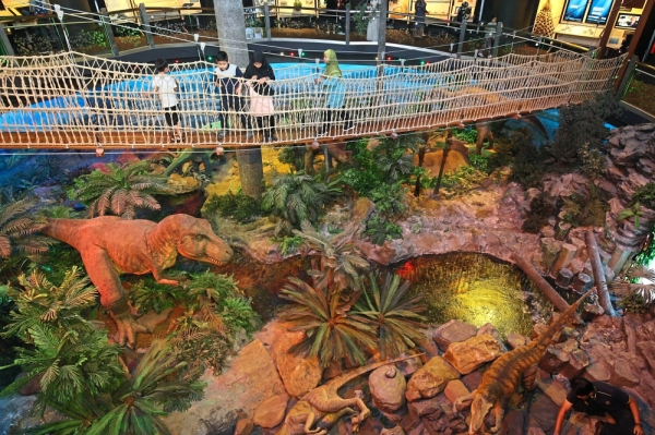 The Geotime Diorama exhibition area takes you back more than 200 million years and features animatronic prehistoric creatures. — Photos: FAIHAN GHANI/The Star