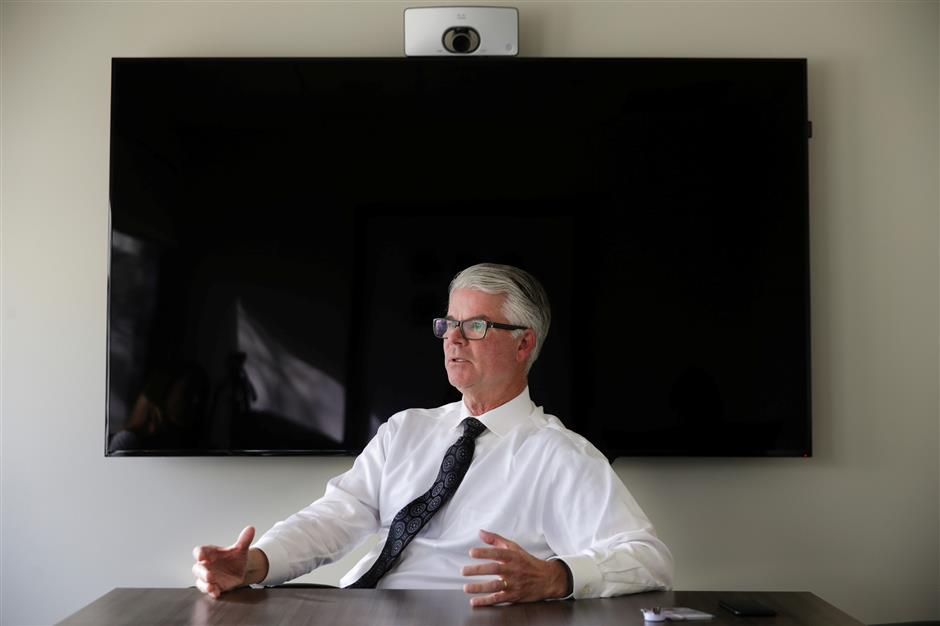 John Jackson, Executive Director of Corporate Health Programs at Stanford Health Care, speaks about their partnership with Cisco Systems at his office in Menlo Park, California, U.S., March 22, 2018. Picture taken March 22, 2018. REUTERS/Elijah Nouvelage