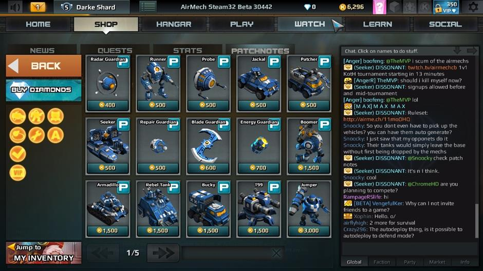 F2P: Dont worry about the F2P model - new units and mechs are unlocked using the in-game currency; the real cash currency is mostly for decorations.