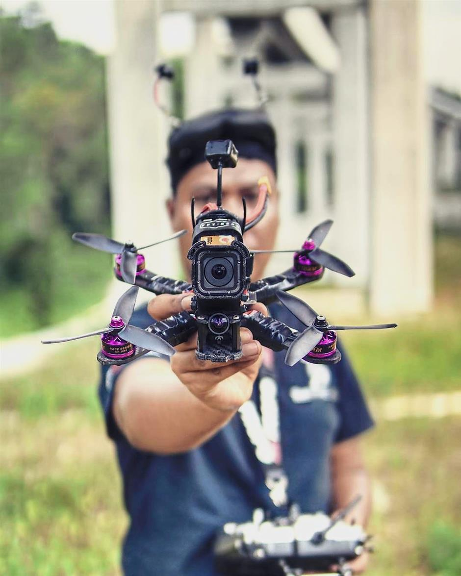Mafitri was inspired to get into drone stunts by an Australian pilot who flew his drone in the jungle like a scene from Star Wars.