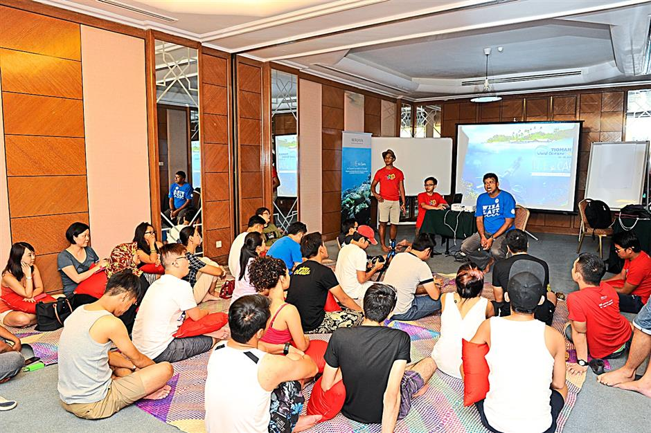 Participants in a workshop during the Berjaya Live and Care Excursion, a nature conservation project championed by the Berjaya Hotels & Resorts, Malaysian Nature Society (MNS) and the Turtle Conservation Society of Malaysia.
