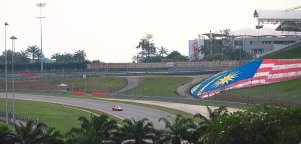 A view of the Sepang F1 Circuit from the roadside of Jalan Kuarters KLIA.