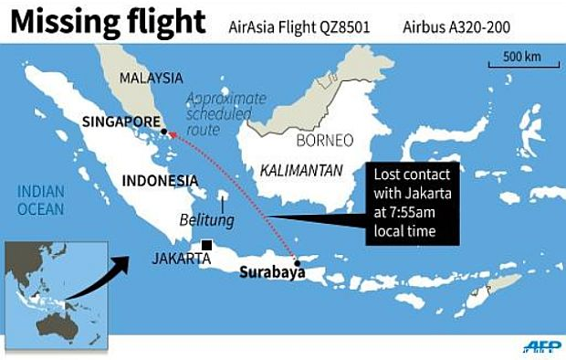 AirAsia Indonesia plane with 162 on board missing en route ...