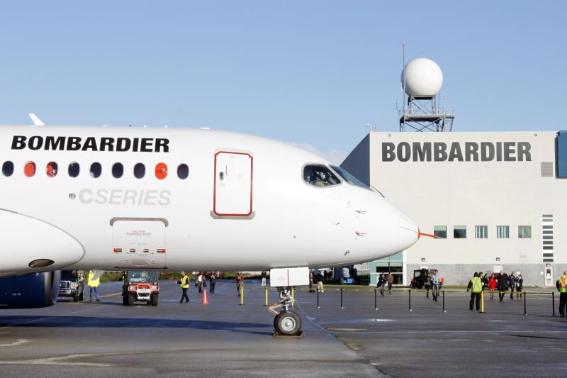 The bombardier aircraft CSseries is shown in Mirabel, Quebec as it is due to take off in this September 16, 2013 file photo. Bombardier Inc reported a quarterly profit that fell well short of expectations on Thursday amid heavy spending on the development its new CSeries jetliner - AFP Photo.