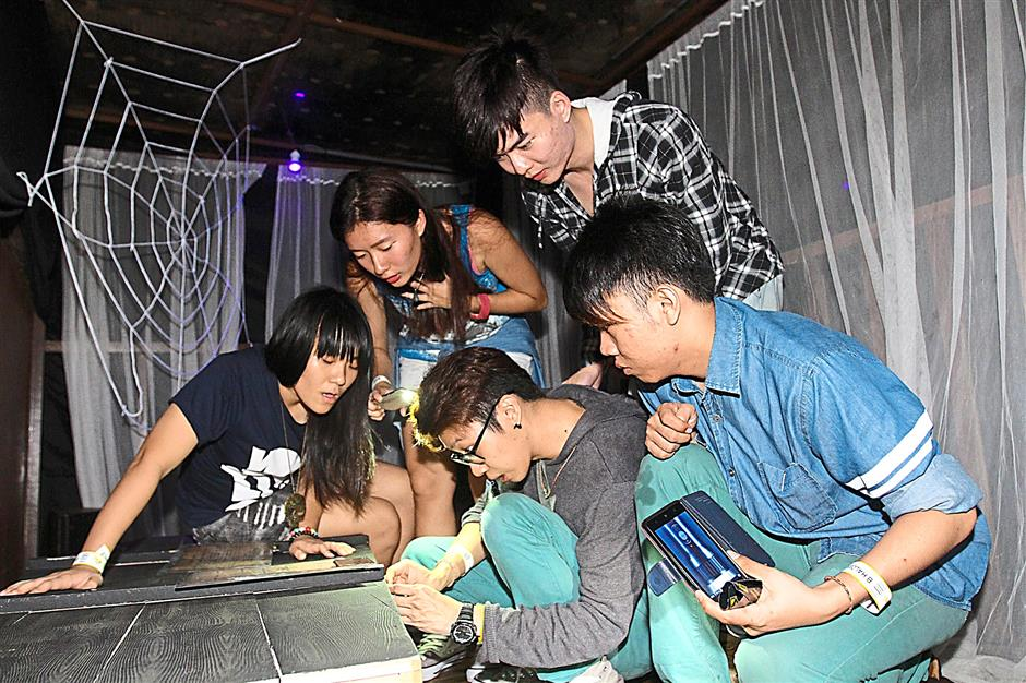 Players must leave no stone unturned as they search for clues in an attempt to complete the Mini Cabana Escape Games at the special Halloween Escape event by Escape Room at Wet World Water Park, Shah Alam.For Halloween cover story on fun, large-scale Halloween events.
