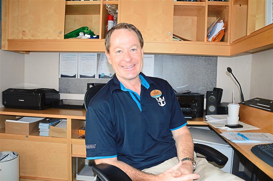 Mariner of the Seas cruise director Dan Whitney, also known as Dan Dan Mian.