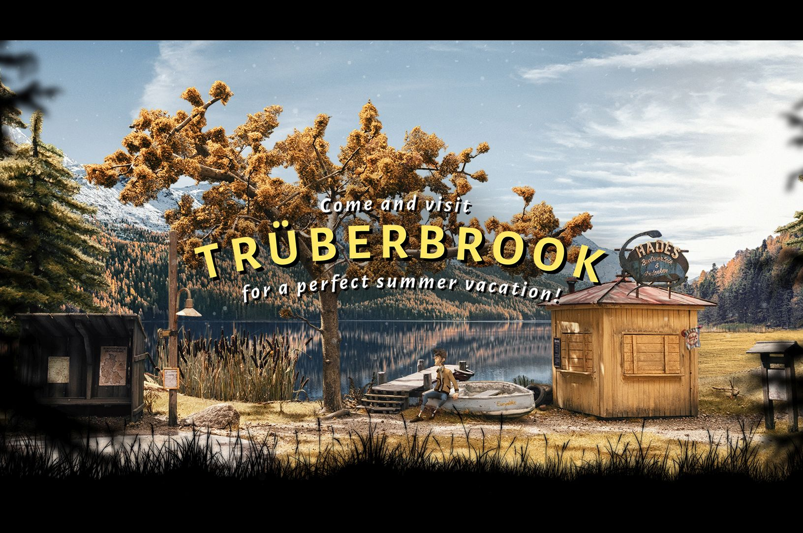Tru00fcderbrook takes players to a fictional German spa town in search of answers to a mystery. u2014 AFP Relaxnews