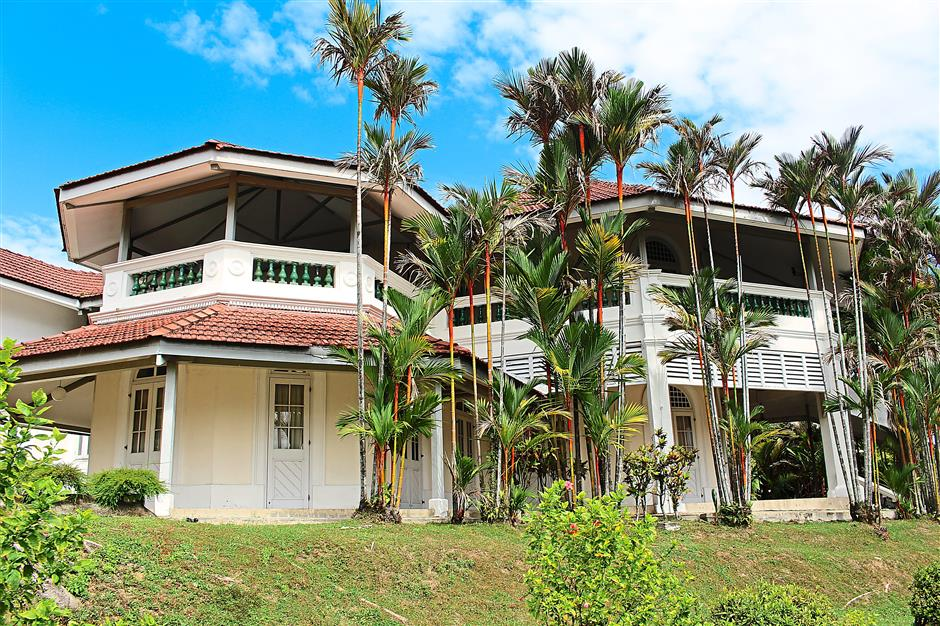 Stately mansion: Tunku's home in the memorial's ground was transported brick by brick from Klang.