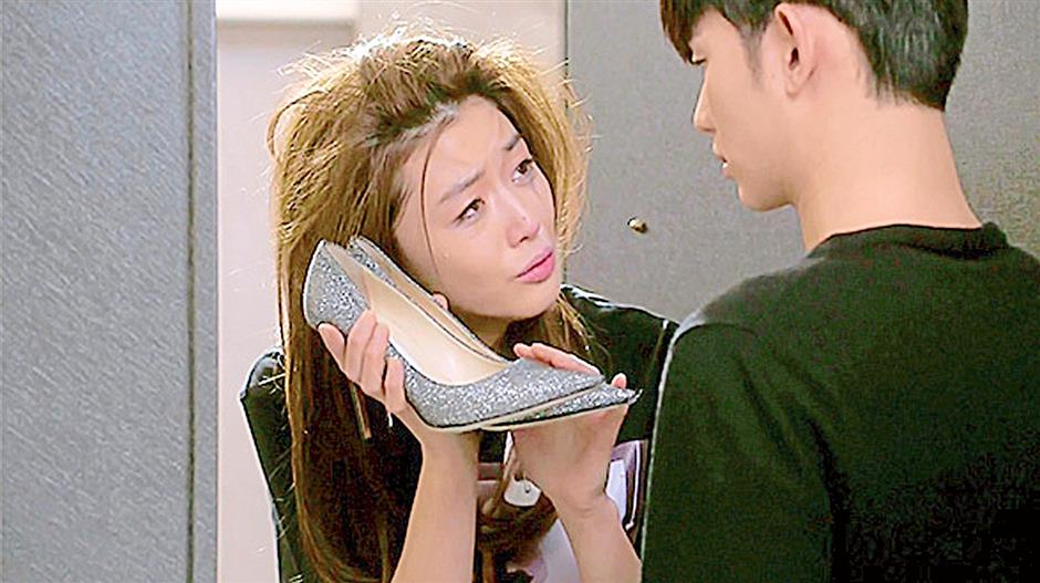 In her shoes: This silver Jimmy Choo heel was sold out, after being featured in the second episode of My Love From The Star.