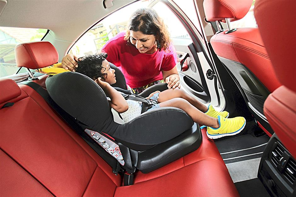 Lalitha Balakrishnan always ensures that her daughter is buckled into a car seat whenever they are on the road.