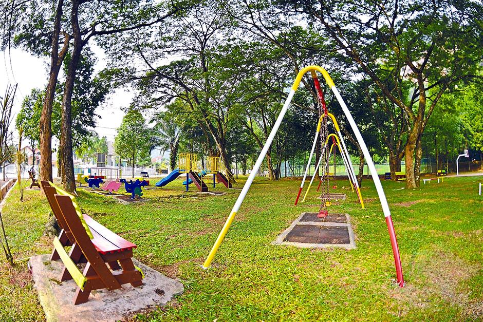 For recreation: (Top) A playground in the area.