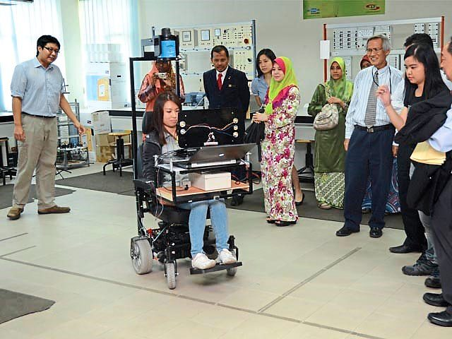 Engineering know-how: The brain-computer interface (BCI) research conducted at Universiti Tunku Abdul Rahman is only possible with trained technicians and professionals.