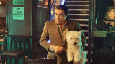 Say hello to my little friend: Tough guy Frank Tagliano (Steven van Zandt) and his dog Lily.