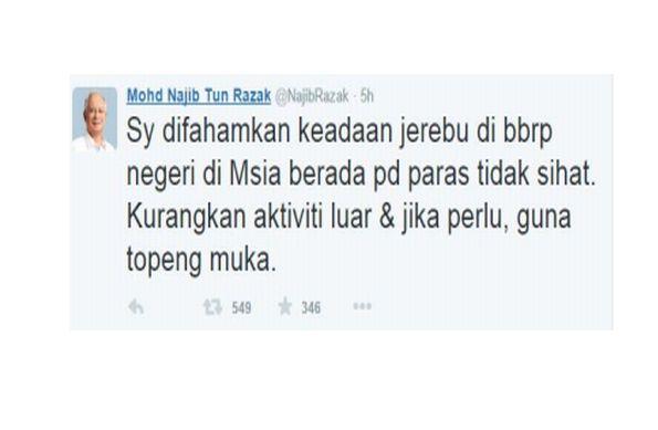 Haze: Reduce outdoor activities, Najib advises | The Star Online