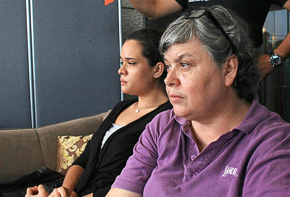 Not happy: Jacquita (right) questions Maseu's call for MAS to move on from the MH370 incident.