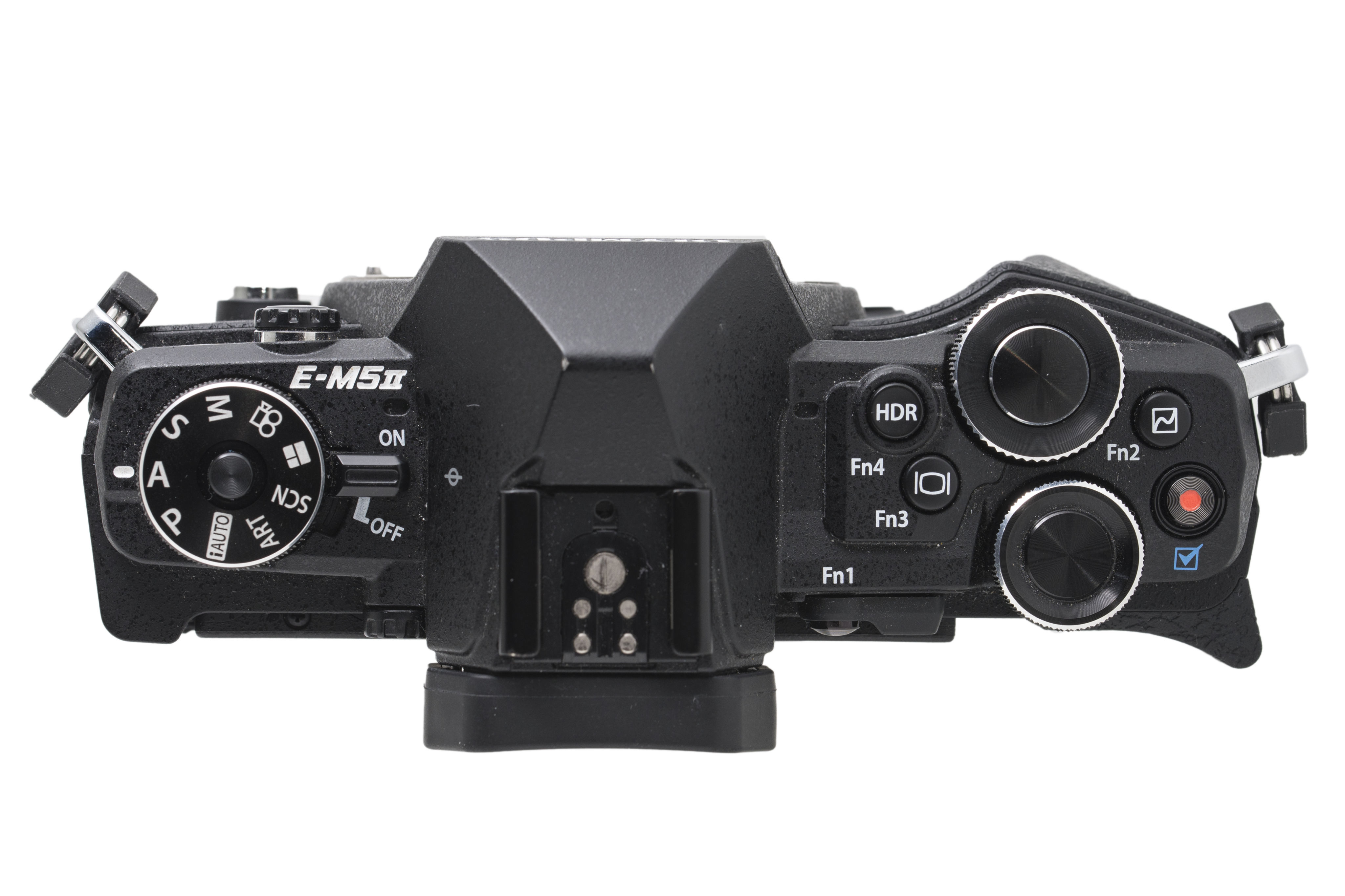 Button overload: the OM-D E-M5 Mark II has a lot of customisable function buttons peppered around its body