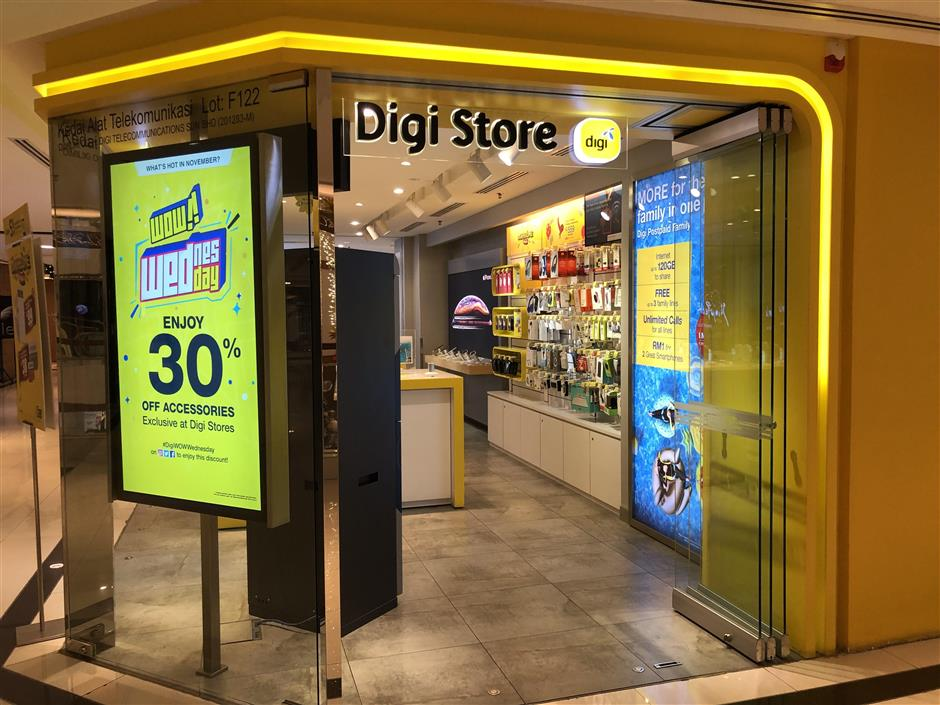 The Digi Store in Bangsar Shopping Centre.