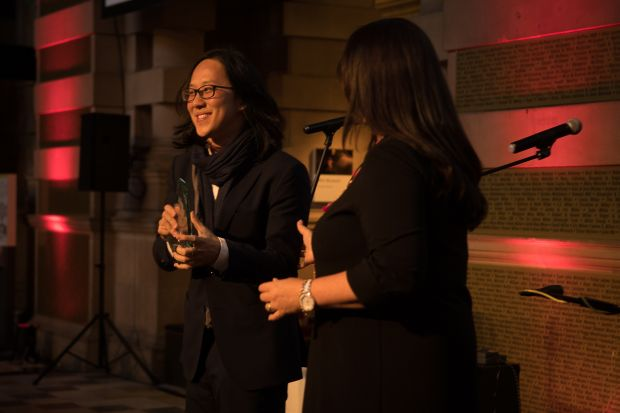 R.AGE editor Ian Yee accepting the World Digital Media Award in Glasgow for the #StandTogether kindness campaign by R.AGE and SP Setia. The award recognises the best digital media campaigns by news publishers around the world.