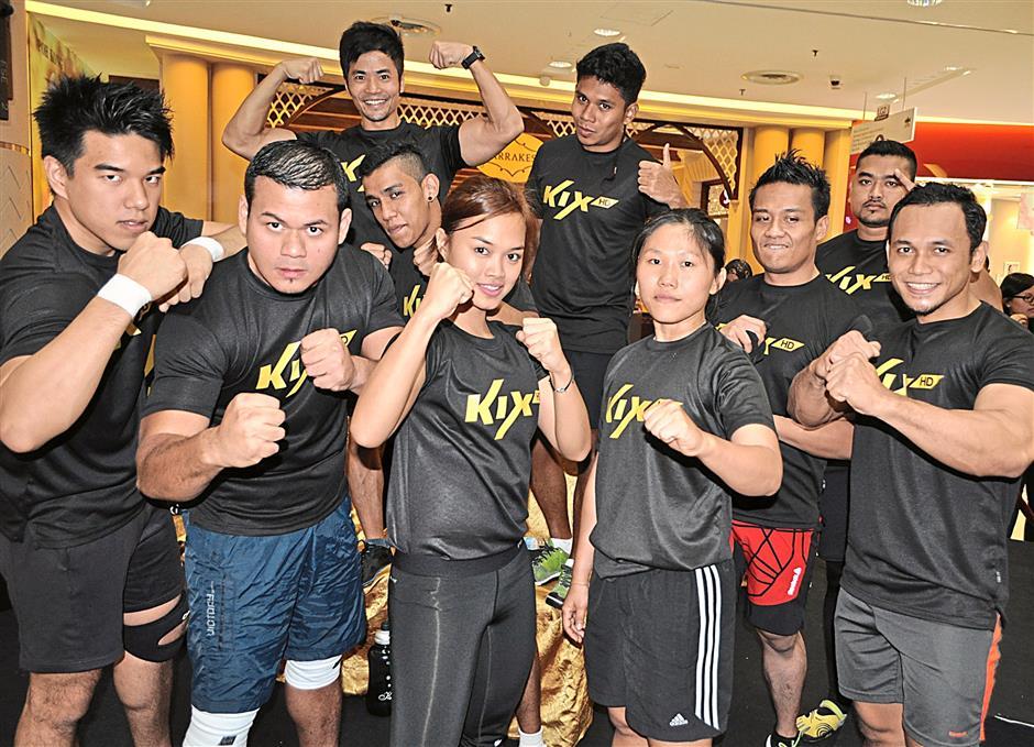 One tough lot- The contestants of KIX HD Are You Tough Enough Challenge..