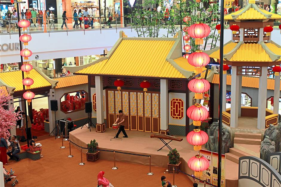 Tribute to Chinese heritage: IOI Putrajaya City Mall's centrepiece themed Courtyard of Treasures and a Tradition of Plentiful.