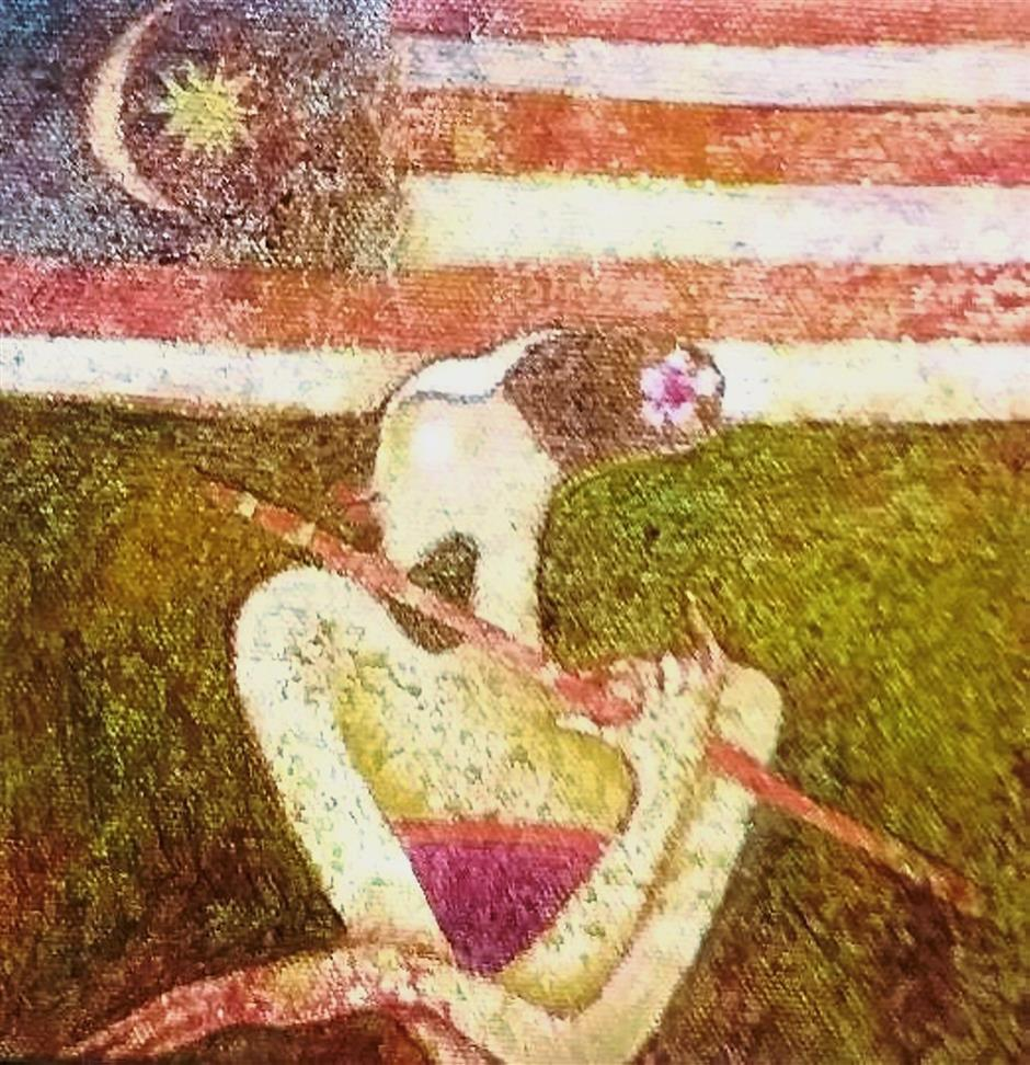 Vibrant and colourful paintings titled 'National Anthem'