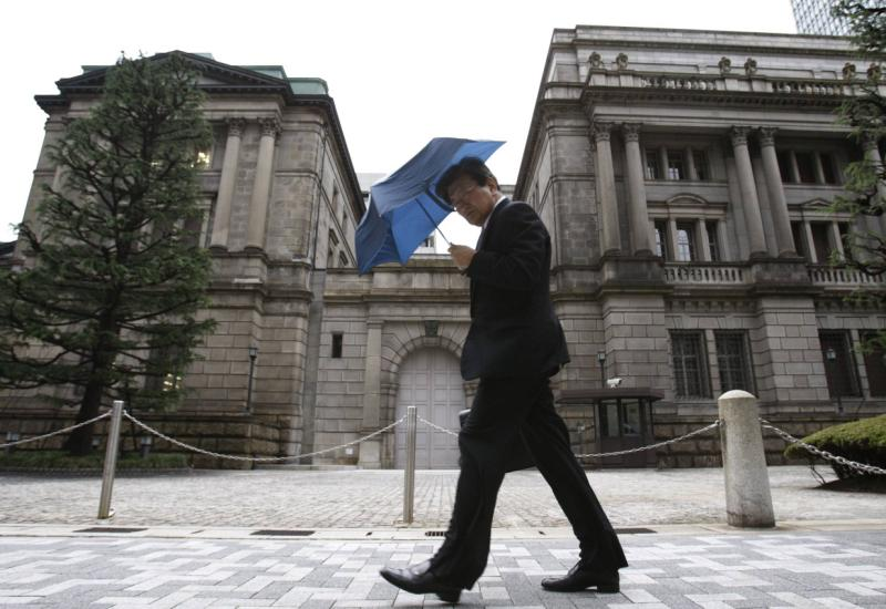 The IMF is pressing Japan to raise the sales tax rate to 10% in October 2015, while also voicing support for the Bank of Japan's (HQ in pix) epic monetary injection into the economy - Reuters Photo.