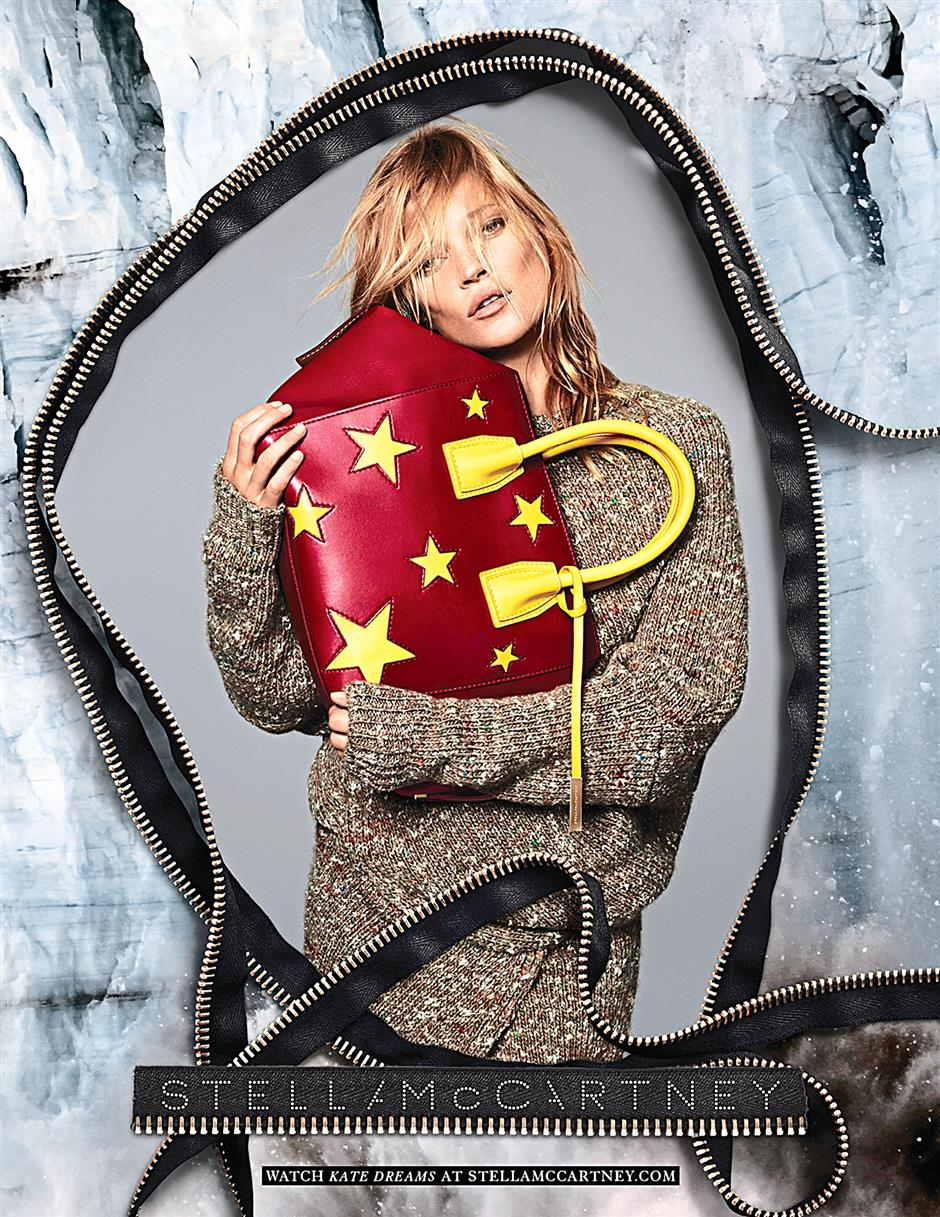 The iconic Kate Moss for Stella McCartney's Fall/Winter 2014 campaign.