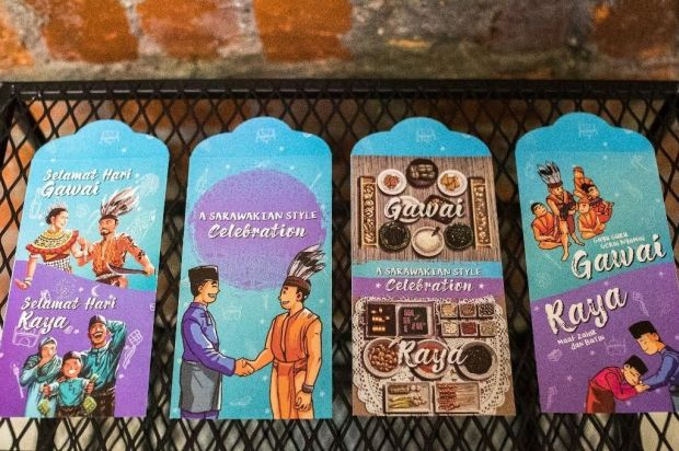 S Wak Tourism Releases Gawai Raya Packets In Four Designs The Star