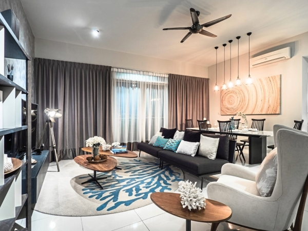 The Ferringhi Residence 2 show unit at Southbay  Sales Gallery in Batu Maung.