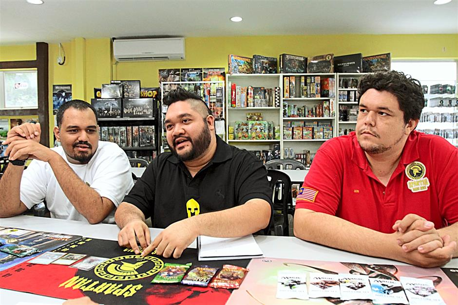 Spartan Games Arena co-founders (from left) Syed Khaled, Nik and Alvin Forsberg have been friends since childhood, bonded by their shared passion for Magic, which eventually encouraged them to incorporate it into their comics shop in Kuala Lumpur.