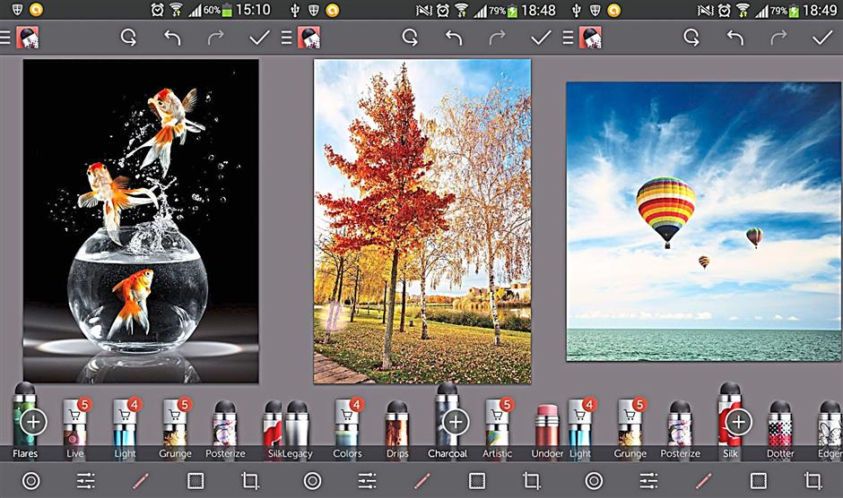 Repix differentiates itself from other photo editors with its unique brush effects.