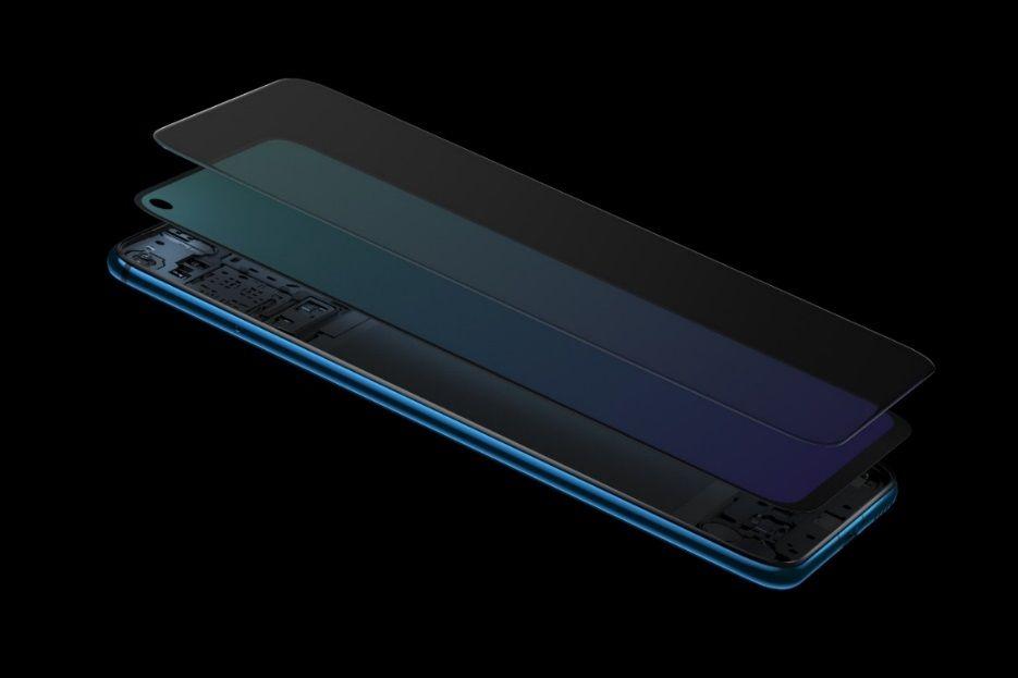 Huawei nova 4's front camera is hidden behind the LCD screen.