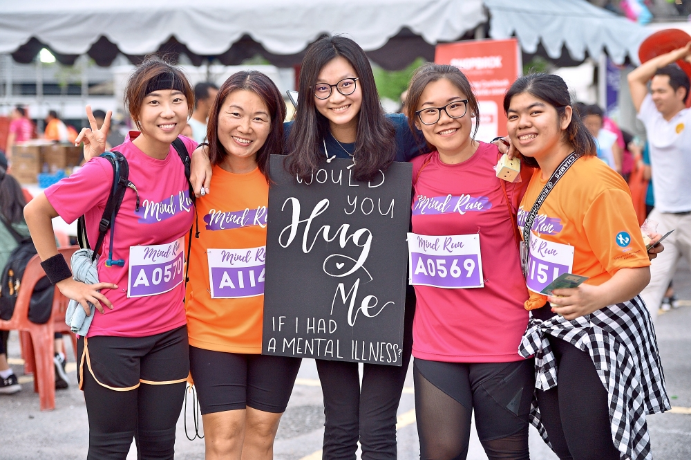 The run also saw many positive engagements between participants and those trying to create better awareness of mental health.
