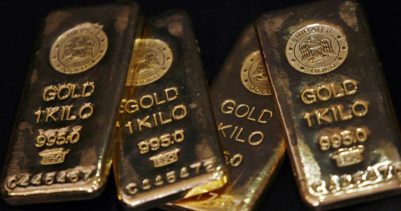 With SPDR Gold Trust, the world\'s largest gold-backed exchange-traded fund, saying its holdings rose 5.69 tonnes to 796.39 tonnes on Tuesday, precious metal is trading close to a three-month peak on Wednesday - Reuters Photo.