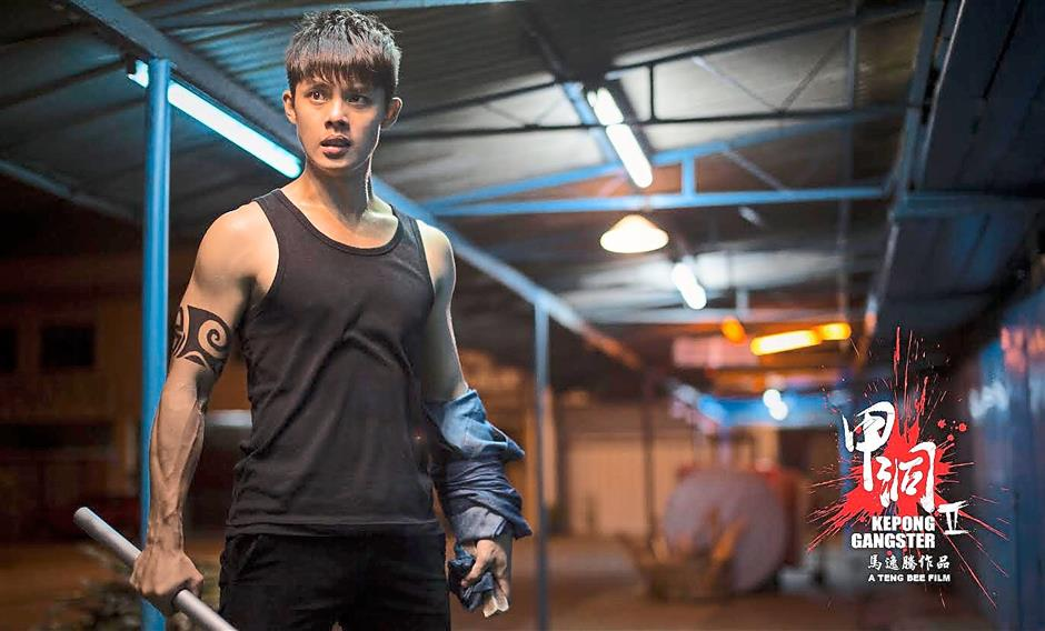Malaysian singer-actor Henley Hii repises his role as the righteous protagonist Ah Chong in local Chinese-language triad flick Kepong Gangster 2, directed by Teng Bee.
