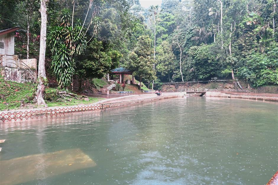 The sizeable pool gets its water direct from the river
